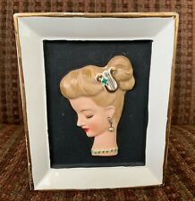 1958 Vintage Napco Lady In Profile with Earring Rectangular Planter C32040
