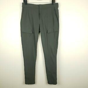 Athleta Wander Outdoor Utility Cargo Pants Skinny Green Size 10 Nylon Spandex