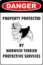 Norwich Terrier Lover Parking Only Aluminum Metal Sign