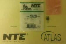 NTE236 TRANSISTOR NPN SILICON 60V IC=6A PO=16W 27MHZ TO-220 CASE FINAL RF OUTPUT