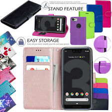 For Google Pixel 3 3a 3 XL Pixel 4 4 XL Leather Wallet Flip Stand Case Cover