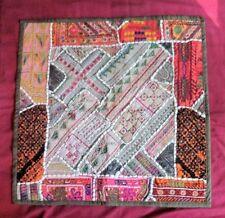 india ethnic mirrored fabric print art wall hanging throw pillow