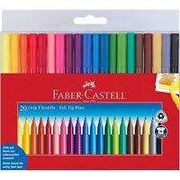 Faber-Castell Pennarelli - Impugnatura Colore Marcatori - Portafoglio Di 20