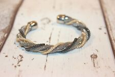 Armreif NEU Armspange silber schwarz gold Nickel Frei Perlen elegant Festlich
