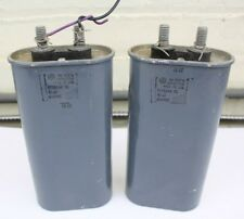 Pair GE Vintage Oil Capacitors NO PCB 10uF 600VDC 1982 Tested