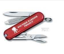 Victorinox Swiss Army Knife  Wounded Warrior RED CLASSIC SD WWP LOGO 55069.US1