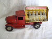 1930's METALCRAFT CORP Pressed Steel COKE-COLA DELIVERY TRUCK-Original STUNNING!