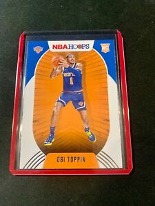 2020-2021 NBA Hoops Obi Toppin RC Red Back RC New York Knicks