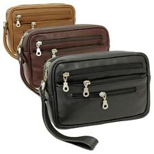 Branco Leder Herren Handgelenktasche Herrentasche schwarz | braun | beige natur
