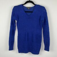 Tommy Bahama Women's Sweater Size XS Blue V Neck Cotton Blend