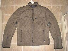Men's $595 (XL) POLO-RALPH LAUREN Gray Quilted MOTO/ BIKER Jacket/ Coat