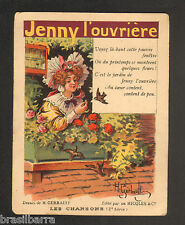 """CHROMO """"RICQLES Les chansons"""" 2ème série JENNY L'OUVRIERE"""