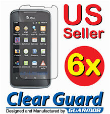 6x Huawei Fusion 2 U8665 Clear LCD Screen Protector Guard Shield Cover Film