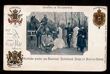 1900 military allies belgium germany holland postcard