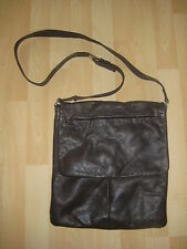 Womens Medium Sized Brown Leather Bag from Next