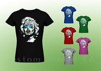 Marilyn Monroe T Shirt - Marilyn Monroe Sugar Skull  Women Tee