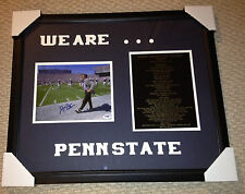 JOE PATERNO SIGNED 8x10  STANDING ON FIELD PENN STATE 23x27 DISPLAY PSADNA RARE