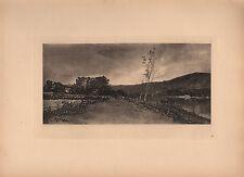 1891 VICTORIAN imprimer rivière Tay Ecosse ~ Elcho Castle ~ William Fettes Douglas