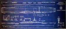 USN Aircraft Carrier USS Lexington CV-2 1942 Blueprint Plan 13x30  (269)