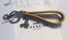 NWT Coach Blue Butterfly Charm Loop Key Chain Fob Bag Charm $60 F58502