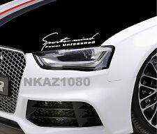 SPORTS MIND POWER UNLEASHED Racing Decal Sport Car Sticker Emblem logo WHITE