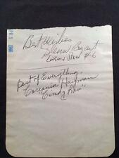 Cards & Papers Entertainment Memorabilia 1946 Peter Donald Vintage Original Signature Autograph Paper A199