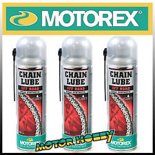 N.3  LUBRIFICANTE PER CATENE O-RING X-RING Z-RING MOTOREX CHAIN LUBE OFF ROAD