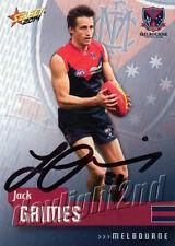 ✺Signed✺ 2014 MELBOURNE DEMONS AFL Card JACK GRIMES
