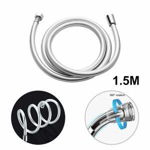 1,5m Universal Brauseschlauch Duschschlauch Flex-Schlauch für Badezimmer Silber