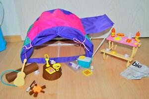 Barbie Zelt Camping Fun Tent mit Zubehör