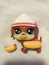 Littlest Pet Shop Series 3 Wave 1 3-84 Wiener Dog w/ Hot Dog Hungry Pets Oop