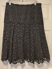 GORGEOUS ERMANNO SCERVINO BLACK crochet LACE SKIRT 46 GORGEOUS~