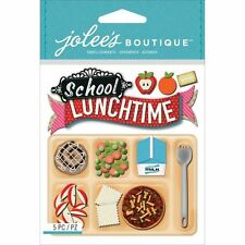 JOLEE'S BOUTIQUE SCHOOL LUNCH DIMENSIONAL STICKERS  BNIP