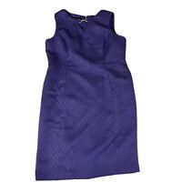 Black Label by Evan Picone Sheath Dress Purple Size 16 Sleeveless Diamond Emboss