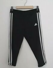 ADIDAS girl size L 14 black and white activewear leggings