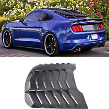 1x BLK ABS Rear Window Louver Cover Sun Shade Vent  For Ford Mustang 2015-2017