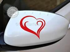 Heart Sticker Car Wing Mirror Vinyl Graphic Decal, Girly Car Sticker