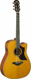 Yamaha A3M Vintage Natural Acoustic Electric Guitar with Gigbag