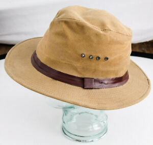 Filson tin cloth packer hat, vintage, large, great condition