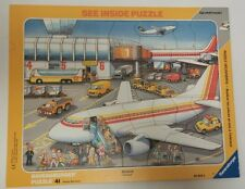 Ravensburger At The Airport See Inside Frame Puzzle KIDS TOY EDUCATIONAL COMPLET