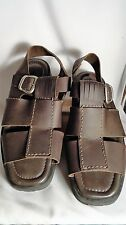 @ Ease by Florsheim Brown Leather Sandals, Buckle, Mens 12/45 Med.