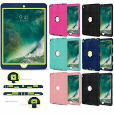 Slim Hybrid Shockproof Hard Case Heavy Duty Cover for The New 9.7 iPad 2018