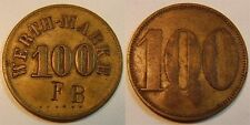 100 Pfennig Hotel Prince Bismark RC ca. 1900 Colonies: German South West Africa