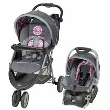 Baby Trend Stroller Combo Girls Infant Car Seat Base Travel System Paisley Print