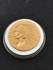 More details for 1913 5 dollar usa, indian head /ef/0.9000 gold half eagle
