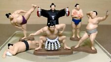 Grand Sumo wrestler PCV Figure mini  Yokozuna set of 6 Capsule toy Mascot dolls