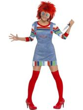 Chucky Costume - Ladies, UK Size 20-22, Chucky Licensed Fancy Dress