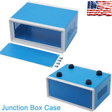 Blue Metal Junction Box Case Electric Project Enclosure Electronic Waterproof