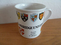 """Cambridge University  Arms of the Colleges Coffee Mug  Sampson Souvenirs 3 1/2"""""""