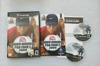Tiger Woods PGA Tour 2004 (Nintendo GameCube, 2003) 2 Disc Set CIB w/ Manual